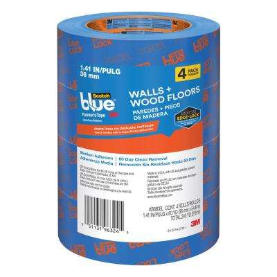 ScotchBlue 1.41 in. x 60 yds. Walls and Wood Floors Painter's Tape with Edge-Lock (4-Pack)