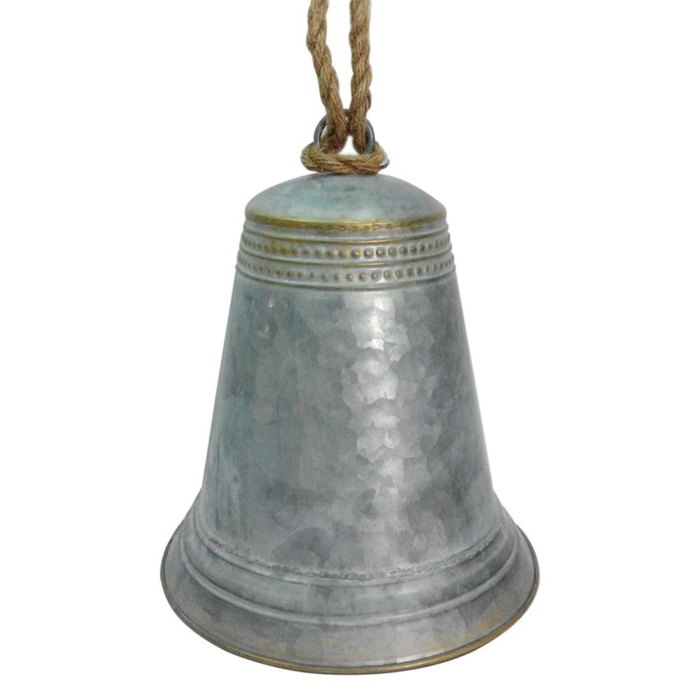 HomeAccentsHoliday Home Accents Holiday 11 in. H Metal Bell Decor, Grey