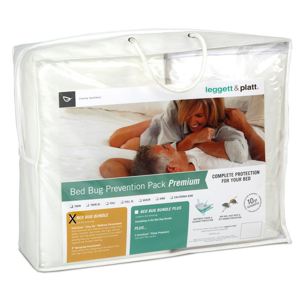 SleepSense Premium Bed Bug Prevention Pack w/ InvisiCase Easy Zip Polyester