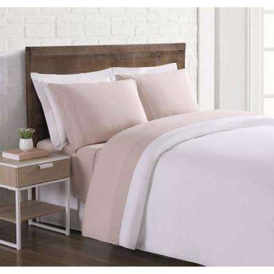 Nature Flax Linen Blush King Sheet Set Sheet Set
