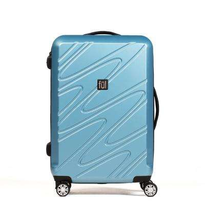 Scribble 29 in. Carolina Blue Expandable Spinner Rolling Luggage Suitcase