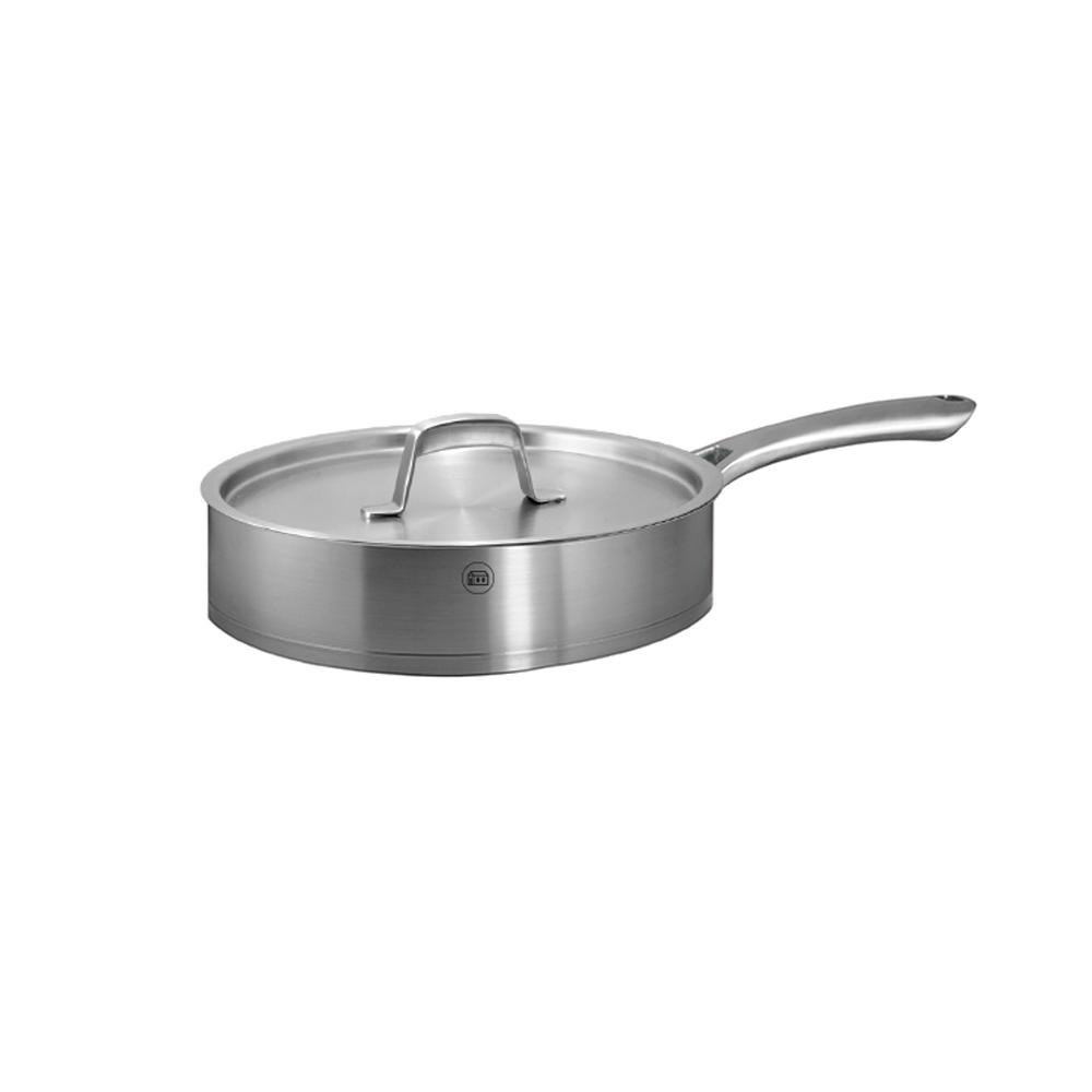Kaiserstuhl 3.6 Qt. Ceramic-Coated Stainless Steel Saute Pan with Lid