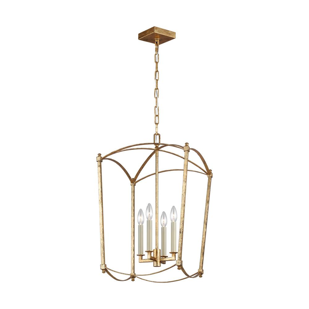 Feiss Thayer 4-Light Antique Guild Chandelier