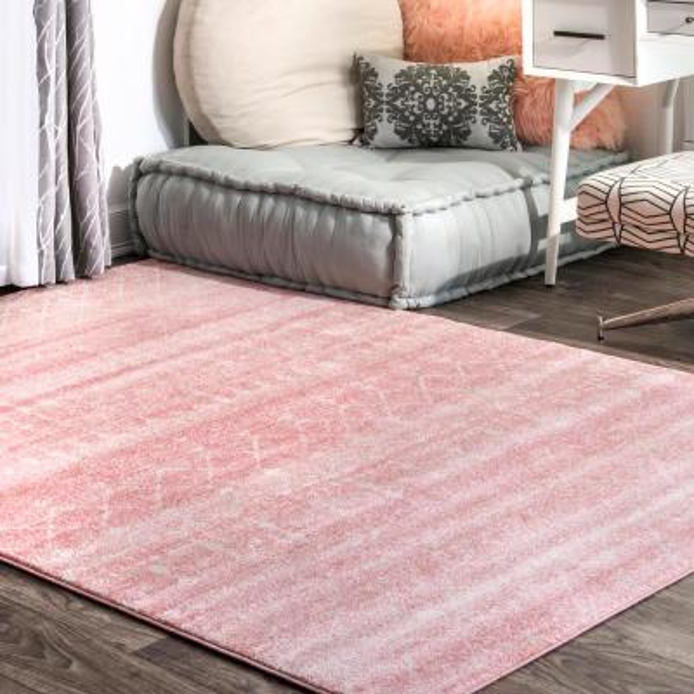 Blythe Modern Moroccan Trellis Pink 8 ft. x 10 ft. Area Rug