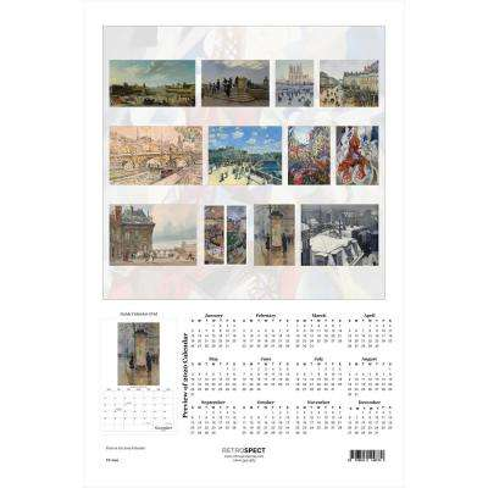 19 in. H x 12.5 in. W Paris in Art - 2019 Calendar
