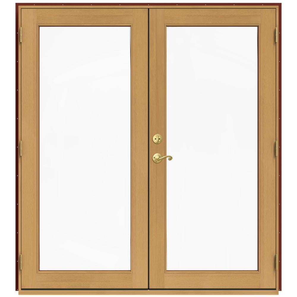 71.5 in. x 79.5 in. W-2500 Mesa Red Left-Hand Inswing French Wood Patio Door
