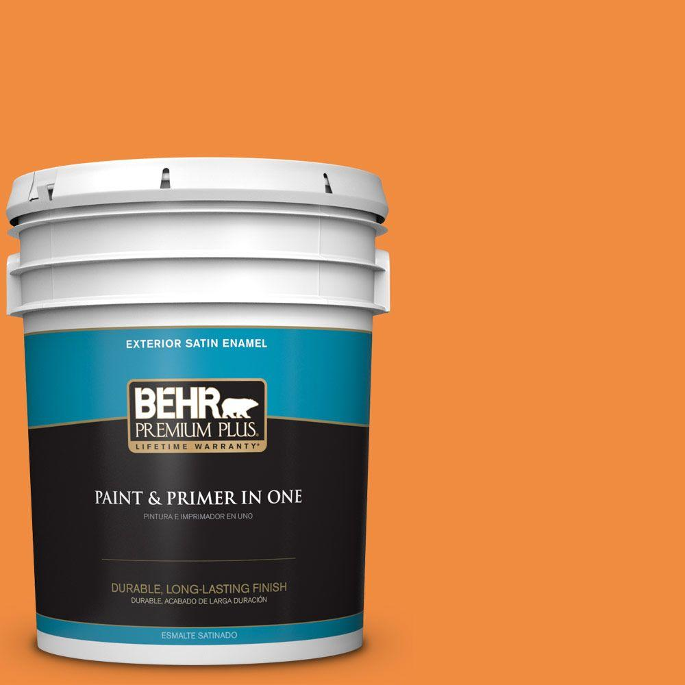 BEHR Premium Plus 5-gal. #260B-7 Bird of Paradise Satin Enamel Exterior Paint