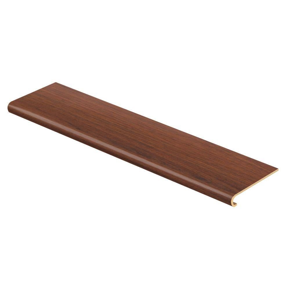 Cap A Tread Brazilian Jatoba 47 in. Long x 12-1/8 in. Deep x 1-11/16 in. Height Laminate to Cover Stairs 1 in. Thick