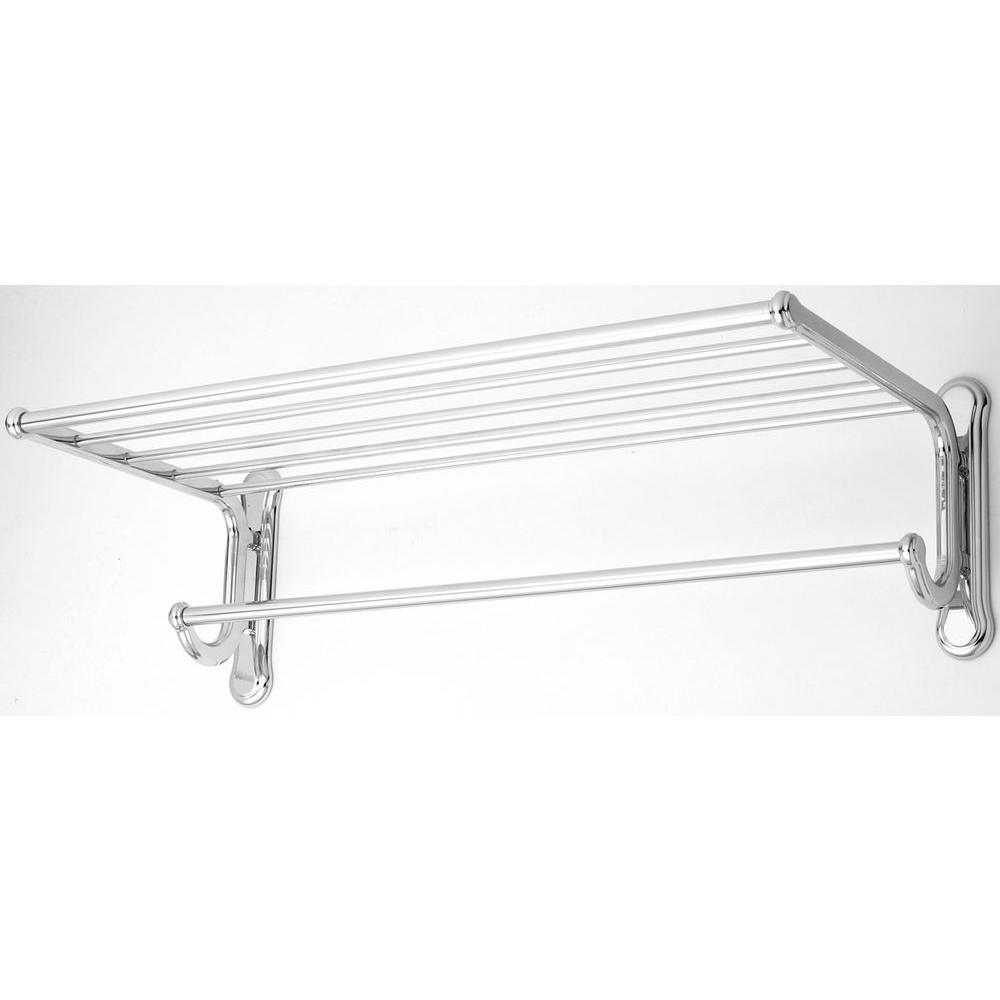 USE Dover 20 in. Shelf with Towel Bar in Polished Chrome-DISCONTINUED