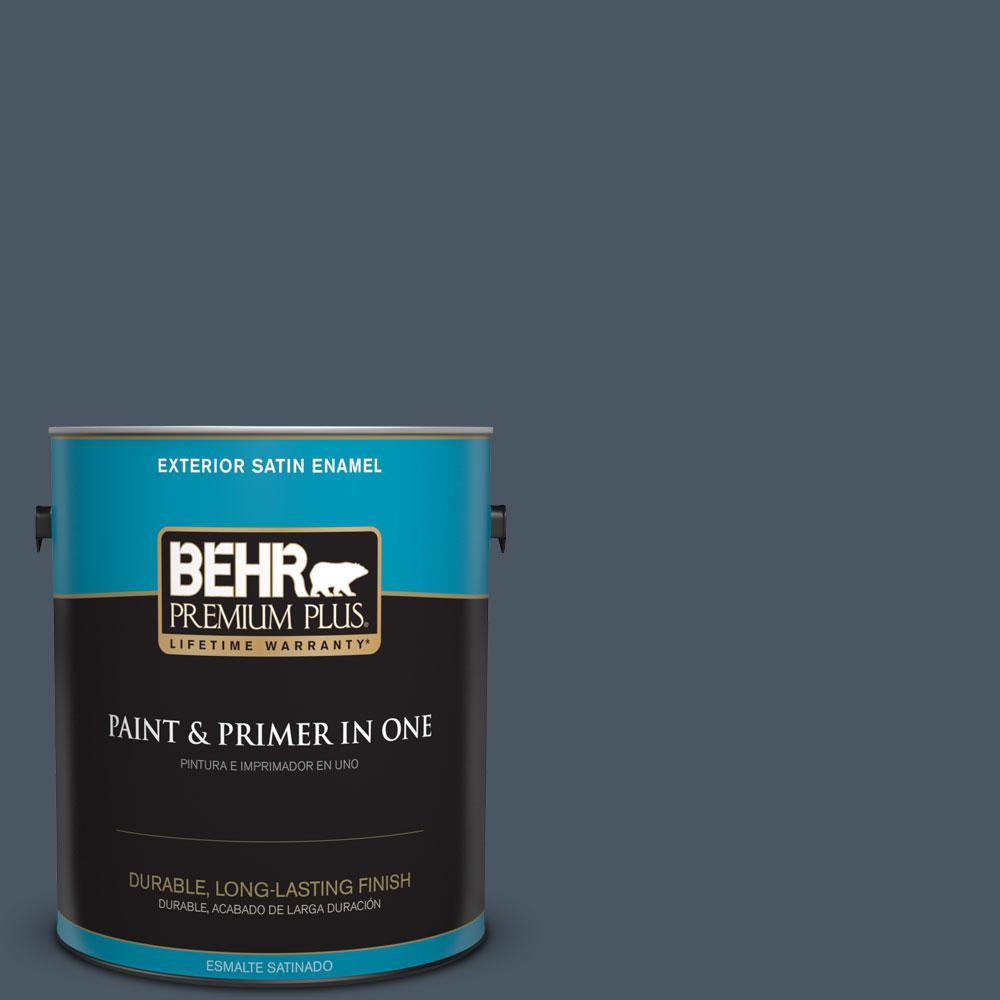BEHR Premium Plus 1-gal. #T13-13 Flapper Dance Satin Enamel Exterior Paint