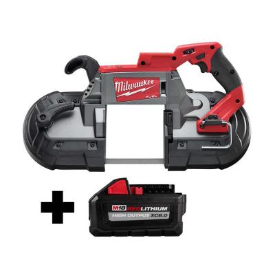 M18 FUEL 18-Volt Lithium-Ion Brushless Cordless Deep Cut Band Saw with Free HIGH OUTPUT 8.0 Ah Battery