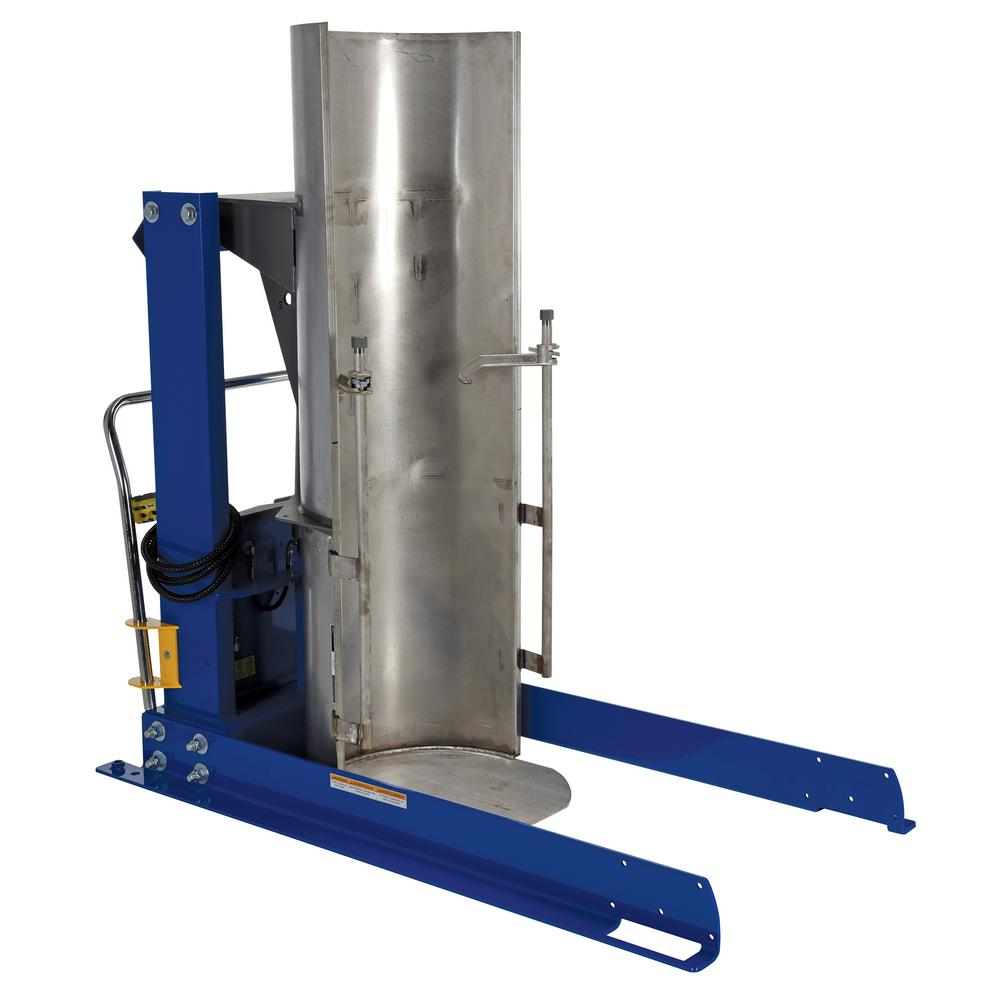 48 in. 1,000 lbs. Capacity Stationary Hydraulic Drum Dumpers with Stainless