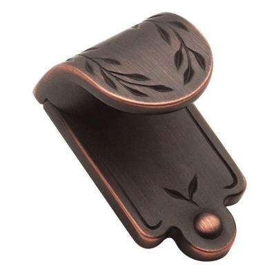 Inspirations 1 in. Oil-Rubbed Bronze Leaf Finger Pull