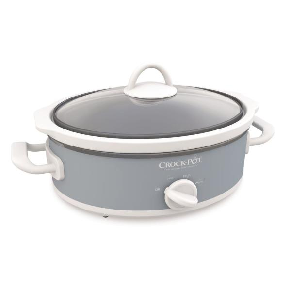 2.5 Qt. Casserole Crock Mini Oval Slow Cooker Gray