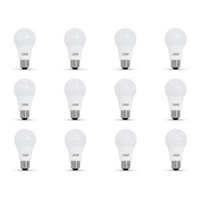 60-Watt Equivalent A19 Dimmable CEC Title 24 Compliant LED ENERGY STAR 90+ CRI Light Bulb, Bright White (12-Pack)