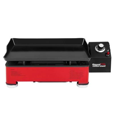 1-Burner Portable Table Top Propane Gas Grill Griddle in Red