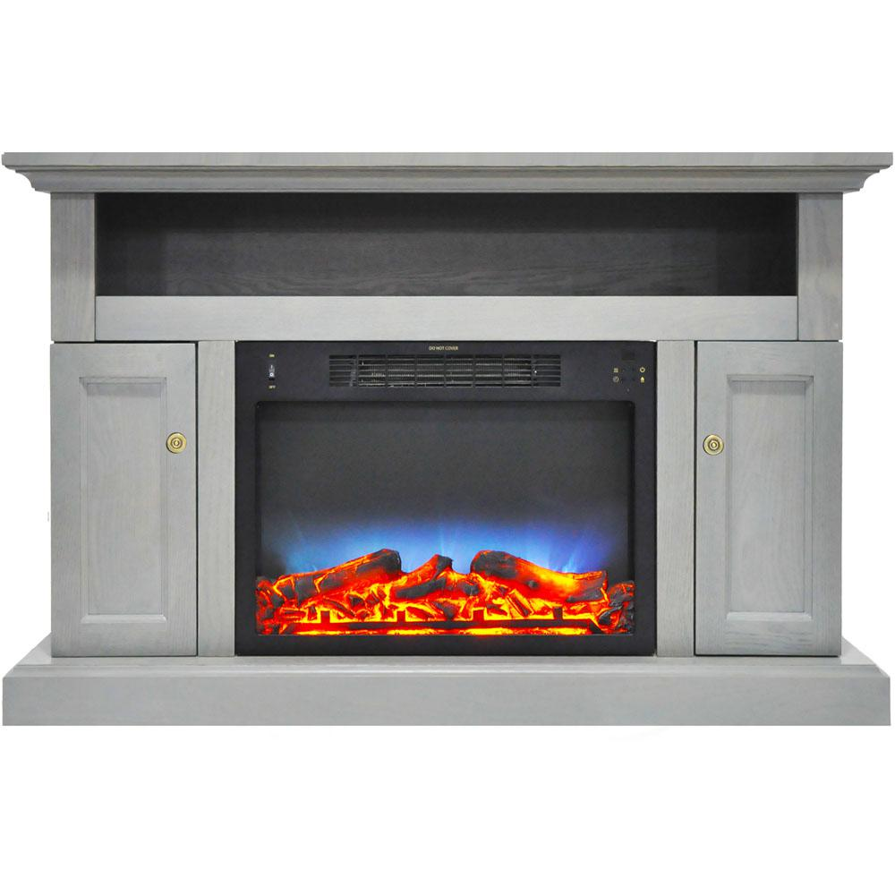Hanover Kingsford 47 In Electric Fireplace With Multi Color Led Insert And Entertainment Stand