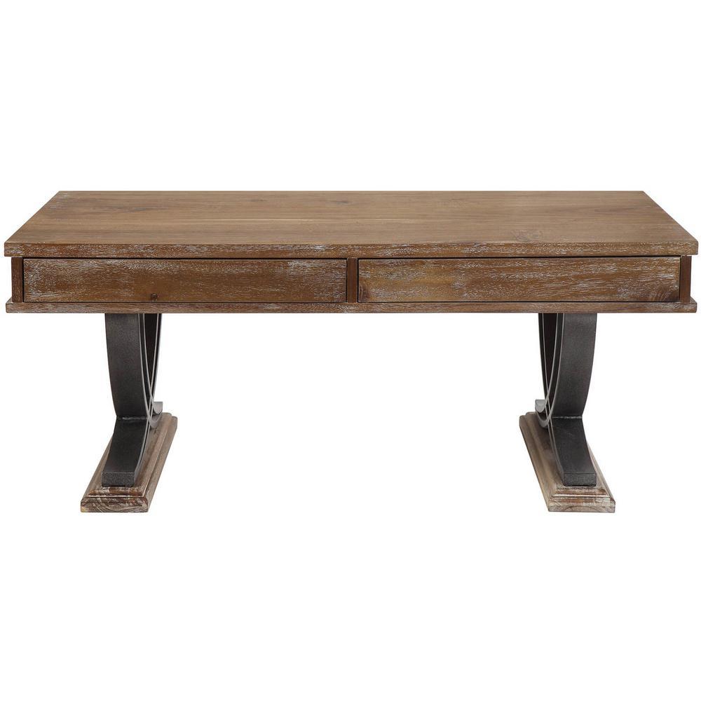 Pellio Black with Antique Oak Coffee Table