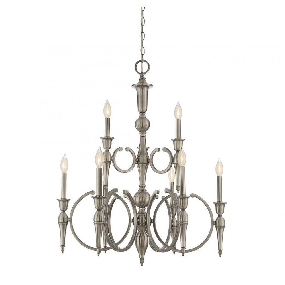 Filament design bella 9 light polished pewter chandelier cli filament design bella 9 light polished pewter chandelier aloadofball Image collections