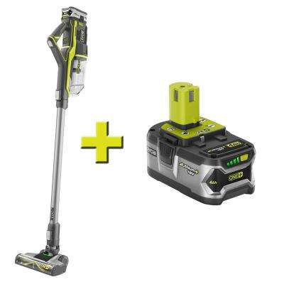 18-Volt ONE+ Lithium-Ion Cordless Stick Vacuum Cleaner with (2) High Capacity 4.0 Ah Batteries