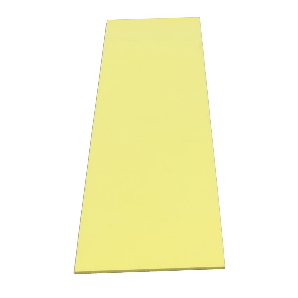 Flat Pole Padding Sheet in Yellow