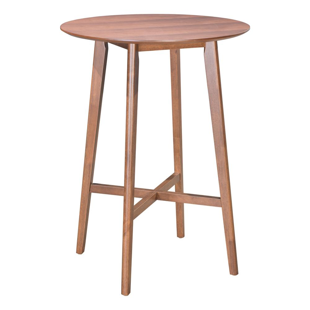 Zuo Trinity Walnut Bar Table
