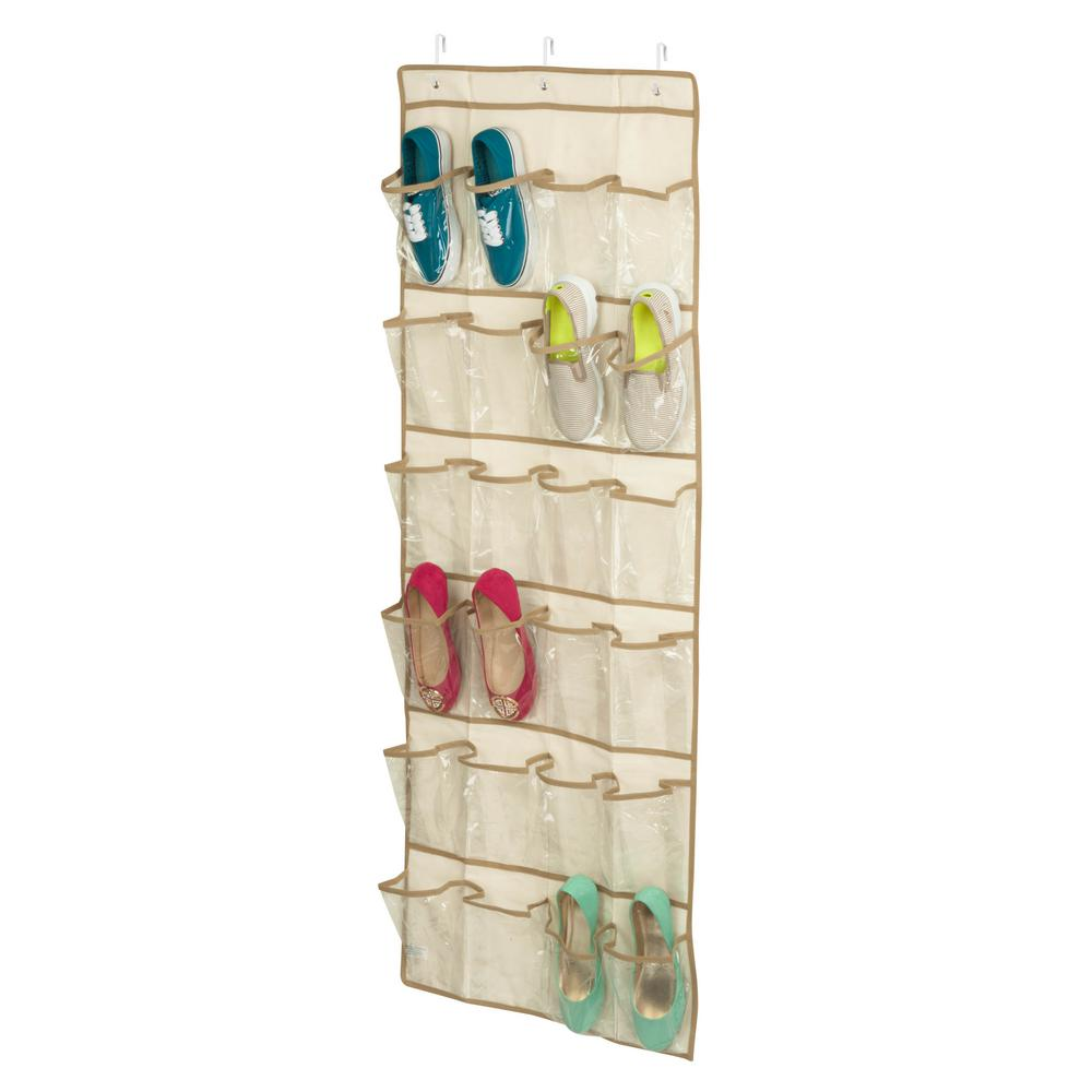 Over-the-Door 24-Pocket Shoe Organizer in Natural