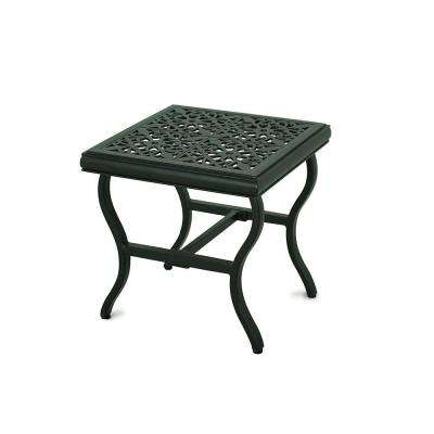Perfect A+R Belthorne Brown Metal Outdoor Patio Side Table