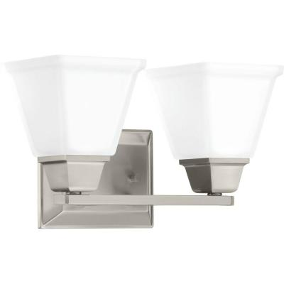 Clifton Heights Collection 2-Light Brushed Nickel Bath Light