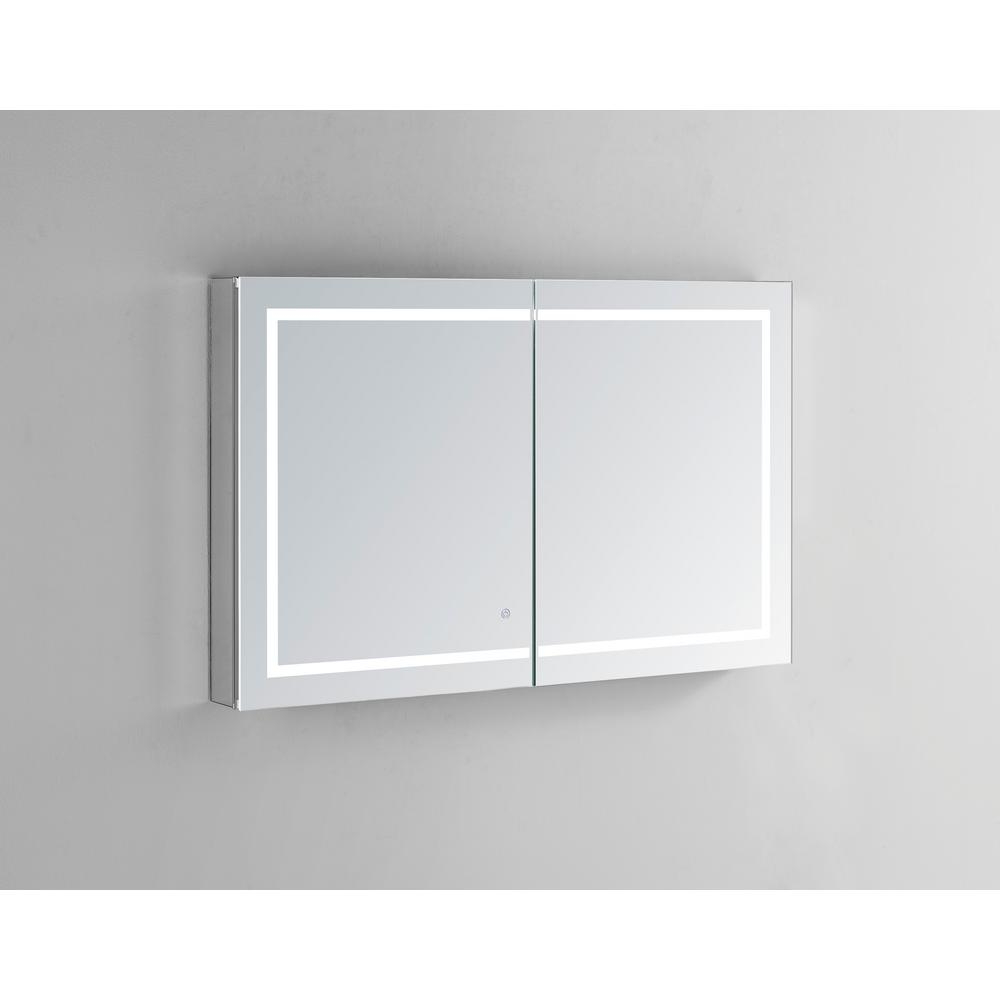 Magnificent Aquadom Royale Plus 48 In W X 36 In H Recessed Or Surface Mount Medicine Cabinet With Bi View Door Led Lighting Mirror Defogger Download Free Architecture Designs Rallybritishbridgeorg