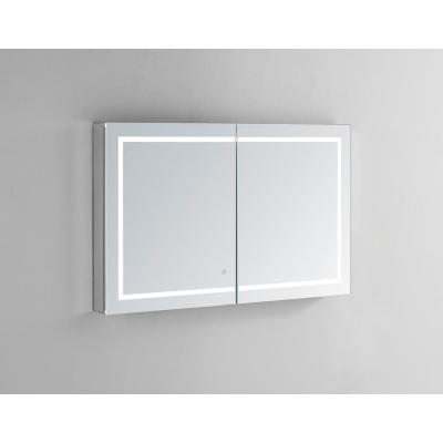 Royale Plus 48 in W x 36 in. H Recessed or Surface Mount Medicine Cabinet with Bi-View Door,LED Lighting,Mirror Defogger