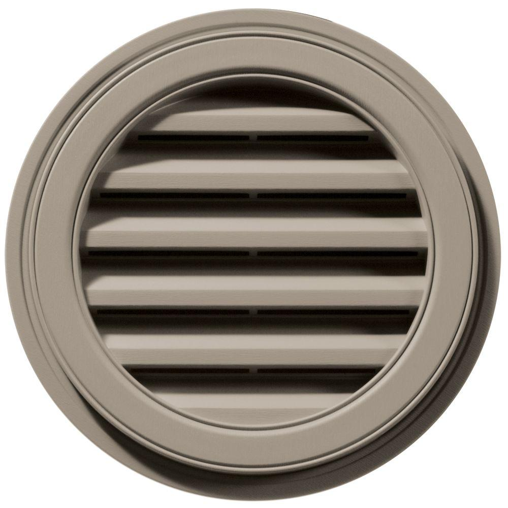 Builders Edge 18 in. Round Gable Vent in Clay