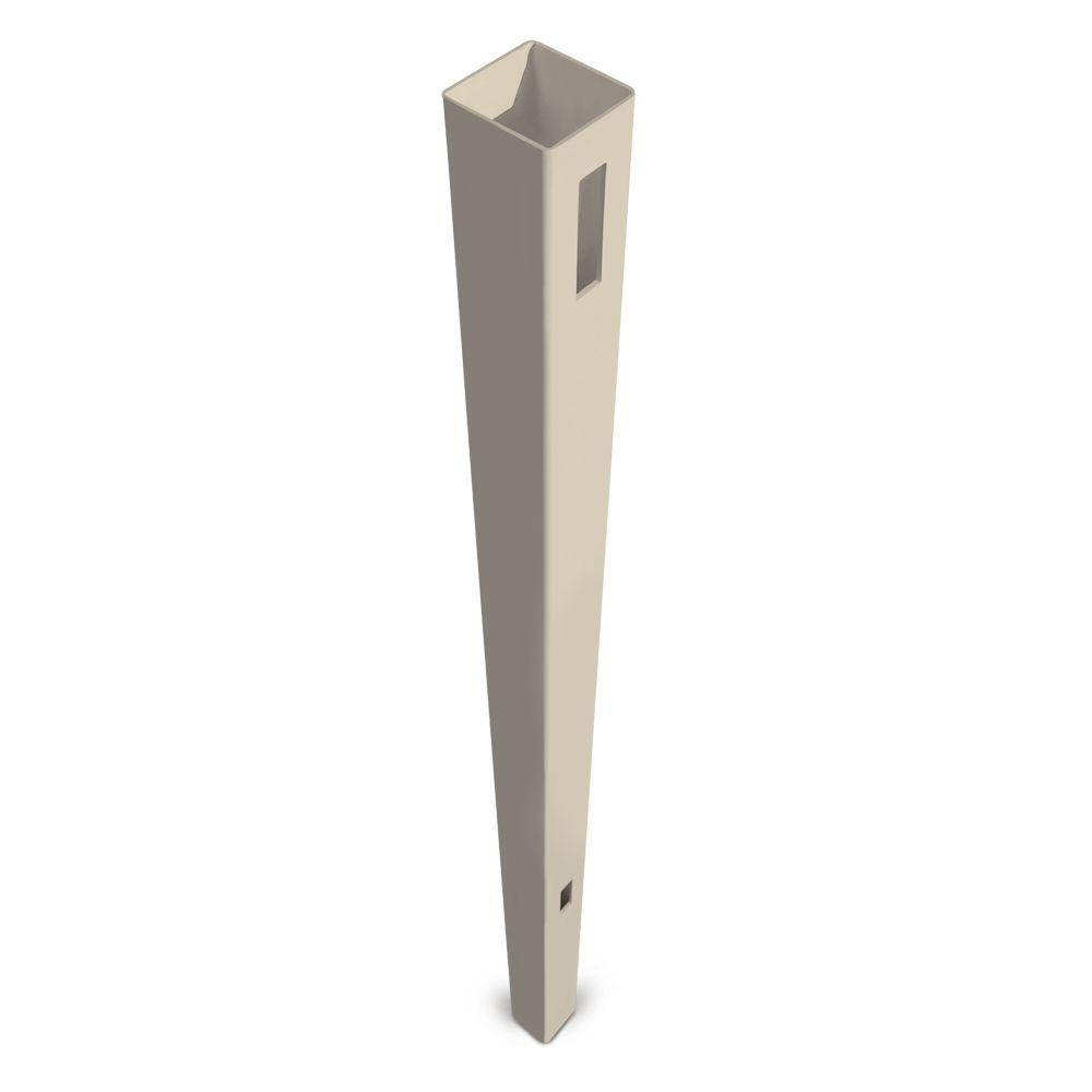 Veranda Pro Series 5 in. x 5 in. x 8-1/2 ft. Tan Vinyl Anaheim Routed Fence End Post