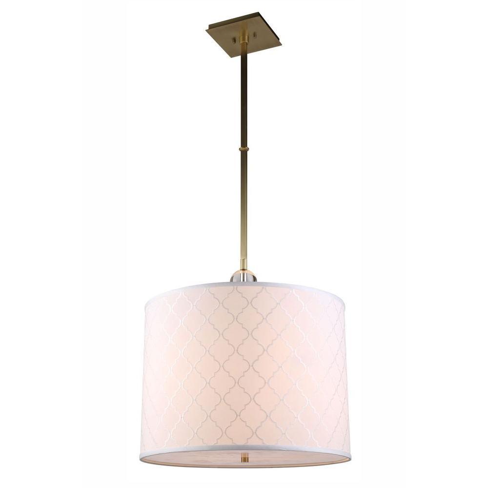 Gemma 2-Light Burnished Brass Pendant Lamp