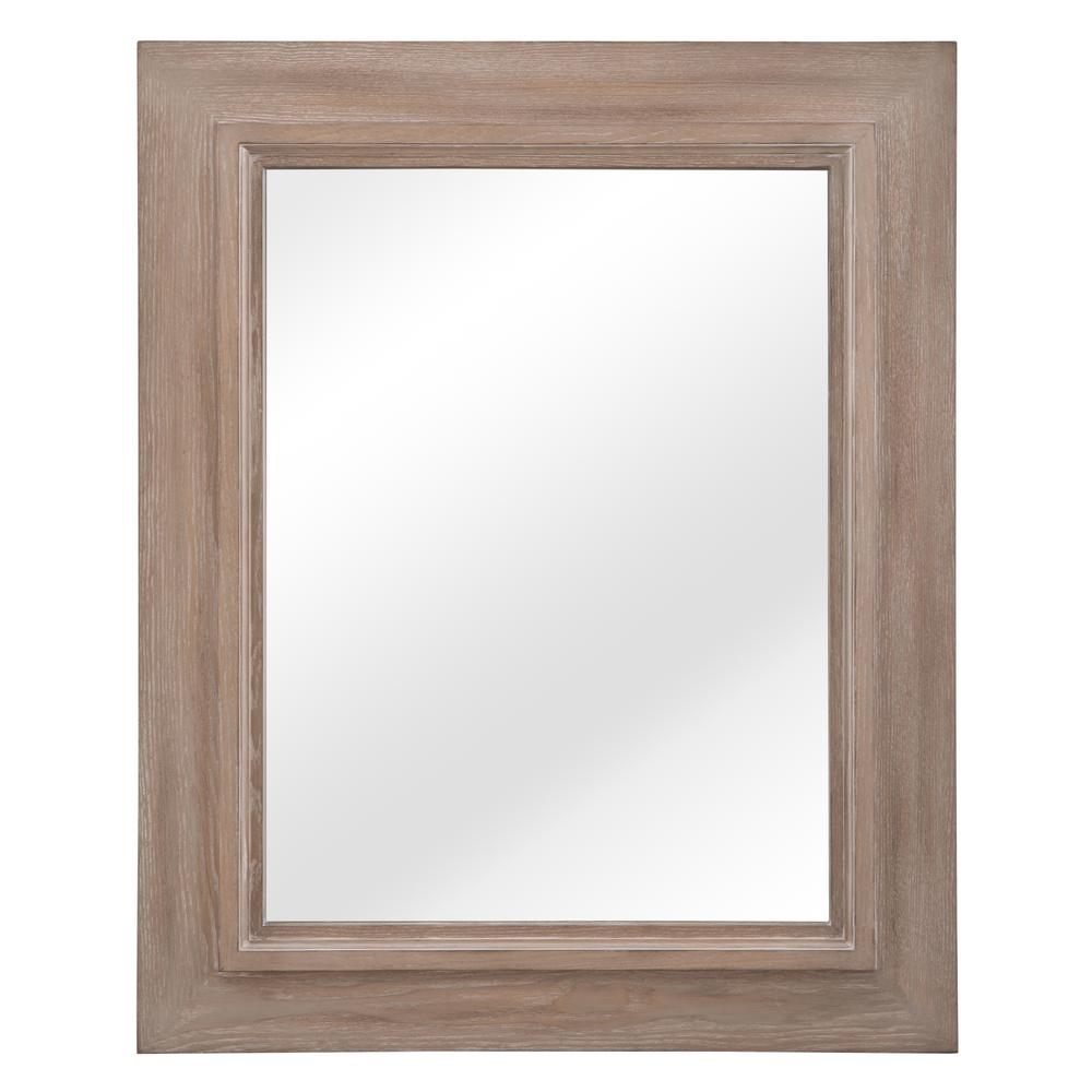 Banks 26 in. W x 32 in. H Single Framed Wall