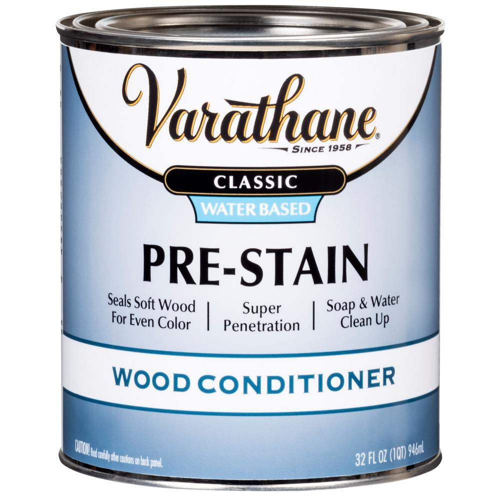 Varathane 1 qt. Classic Water-Based Pre-Stain Wood Conditioner (2-Pack)