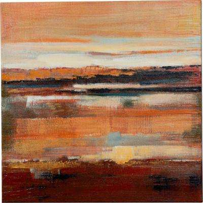 "24 in. x 24 in. ""Majestic Sunset Over the Water"" Canvas Wall Art"