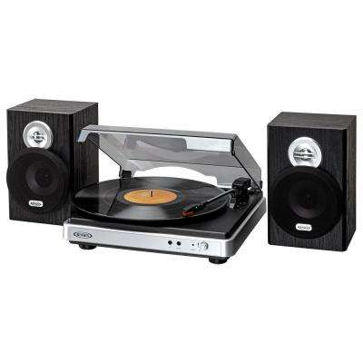 3-Speed Stereo Turntable with Detached Stereo Speakers