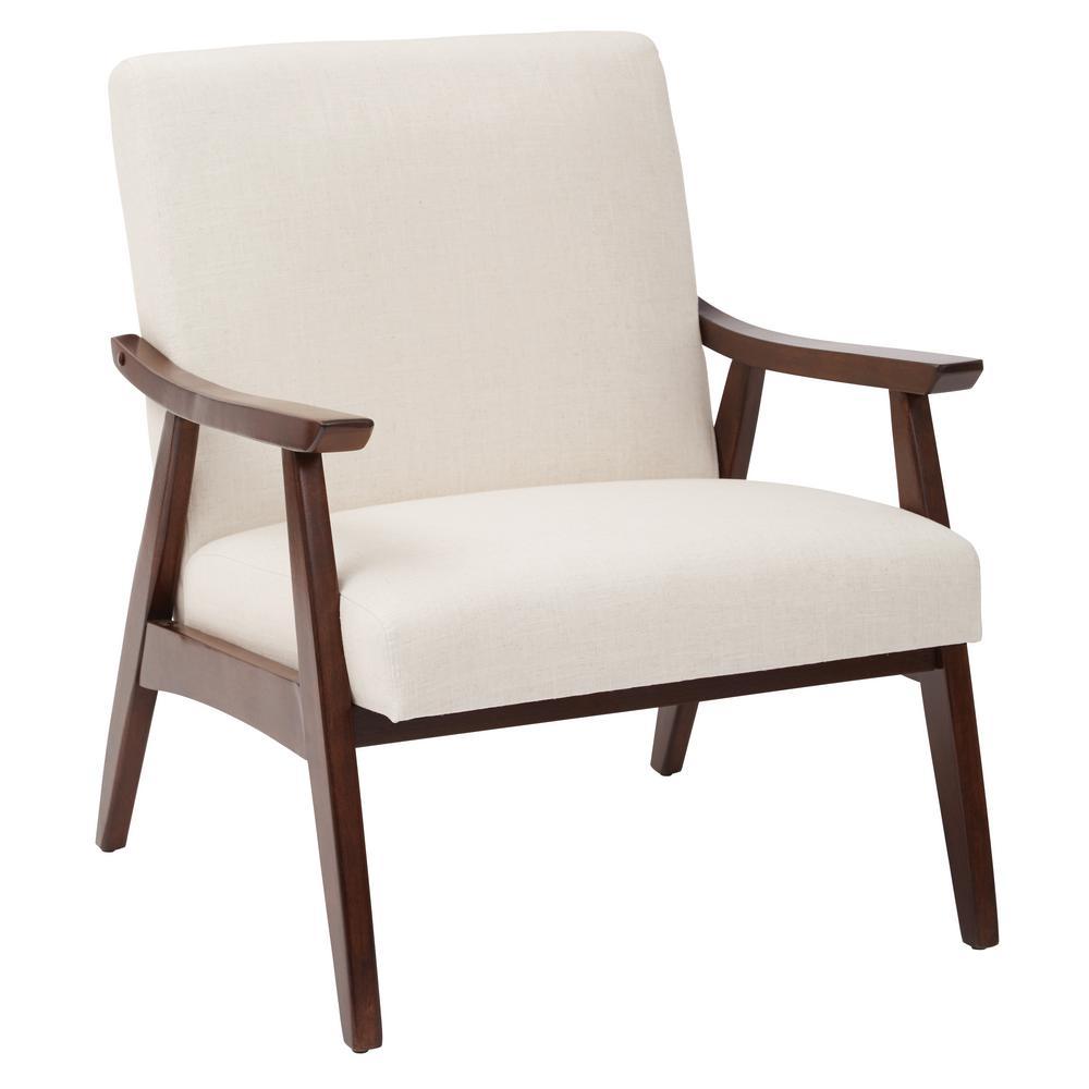 OSP Home Furnishings Davis Linen Fabric Arm Chair DVS51-L32
