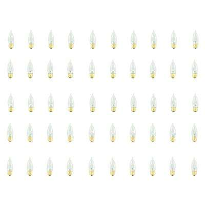 25-Watt CA10 Clear Dimmable Warm White Light Incandescent Light Bulb (50-Pack)
