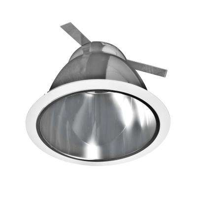 NICOR 6 in. Clear Recessed Specular Reflector Cone with White Trim Ring