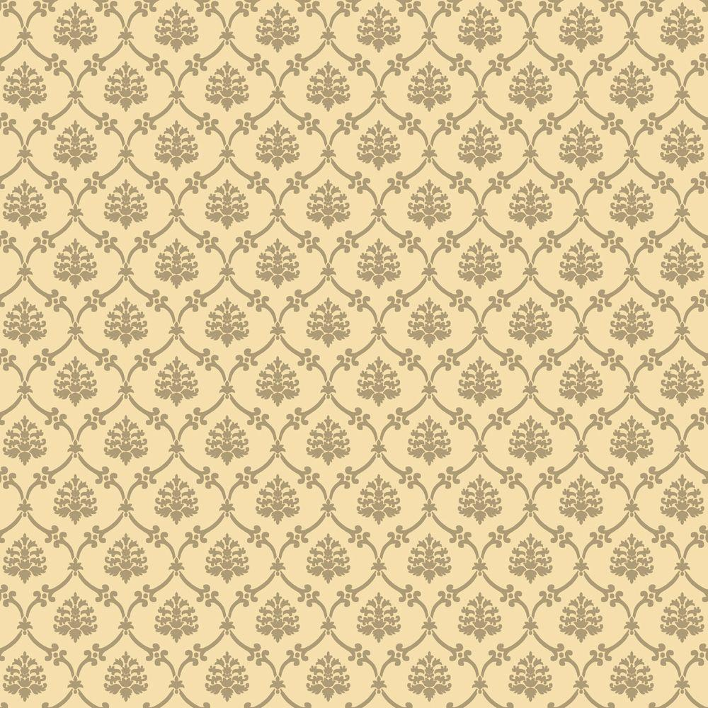 The Wallpaper Company 56 sq. ft. Biscuit Linked Medallions Wallpaper