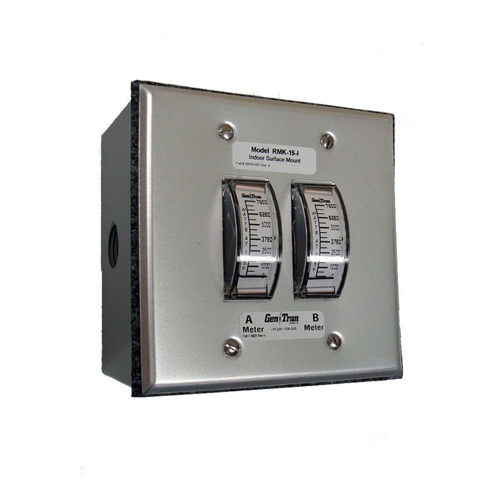 GenTran 60 Amp 15,000-Watt Generator Remote Metering Kit-DISCONTINUED