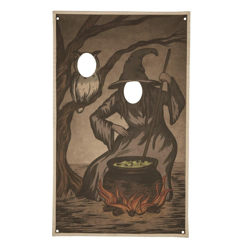 72.75 in. Halloween Witch Photo Banner