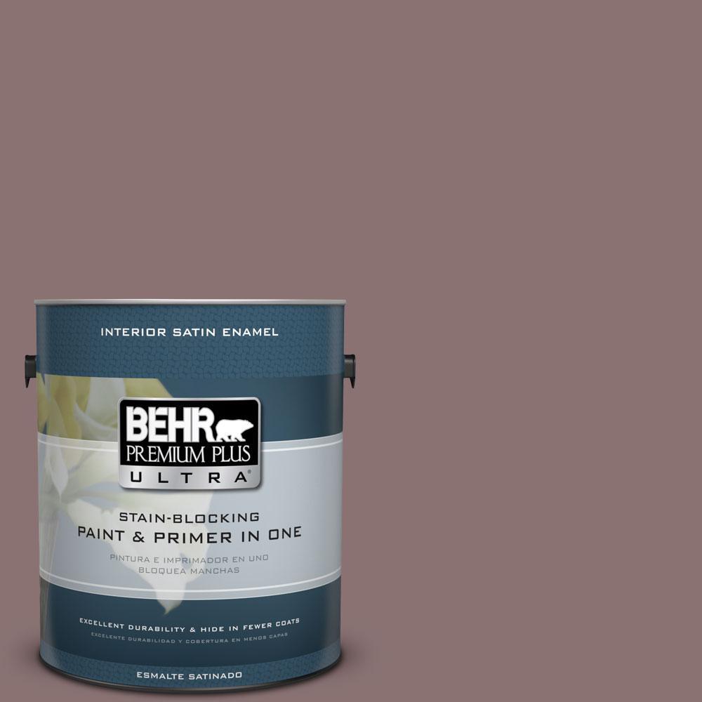 BEHR Premium Plus Ultra Home Decorators Collection 1-gal. #HDC-AC-28 Smokey Claret Satin Enamel Interior Paint