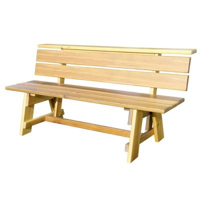 6 ft. White Oak Signature Natural Finish Wood Outdoor Bench