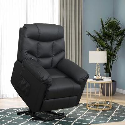 Black Power Lift Recliner with Remote Control