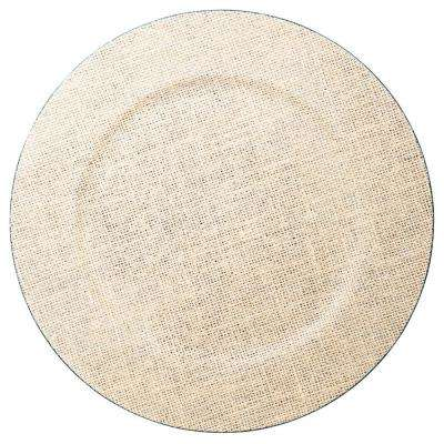 13 in Single Burlap Plate Charger