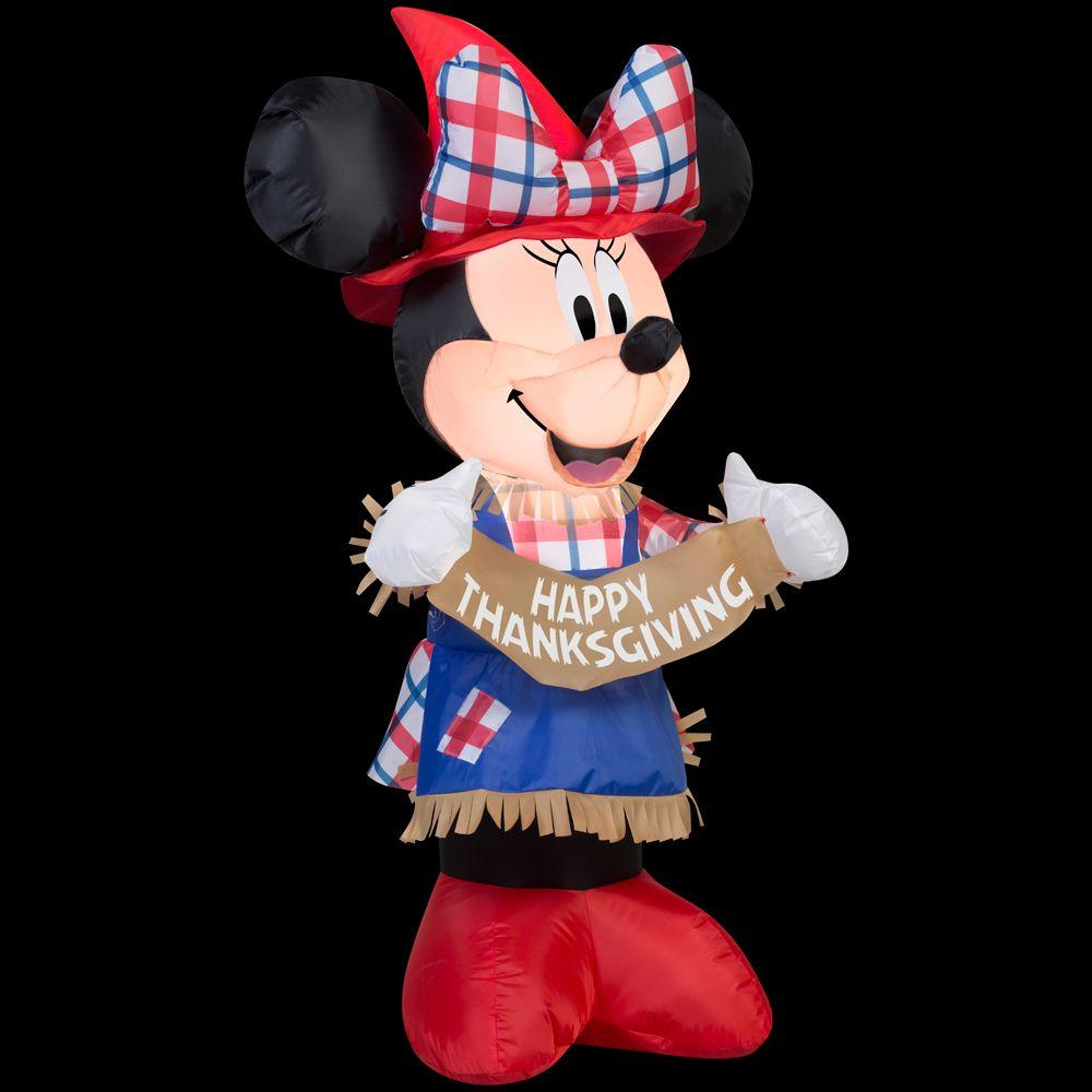Gemmy 3.5 ft. H Inflatable Minnie as Scarecrow