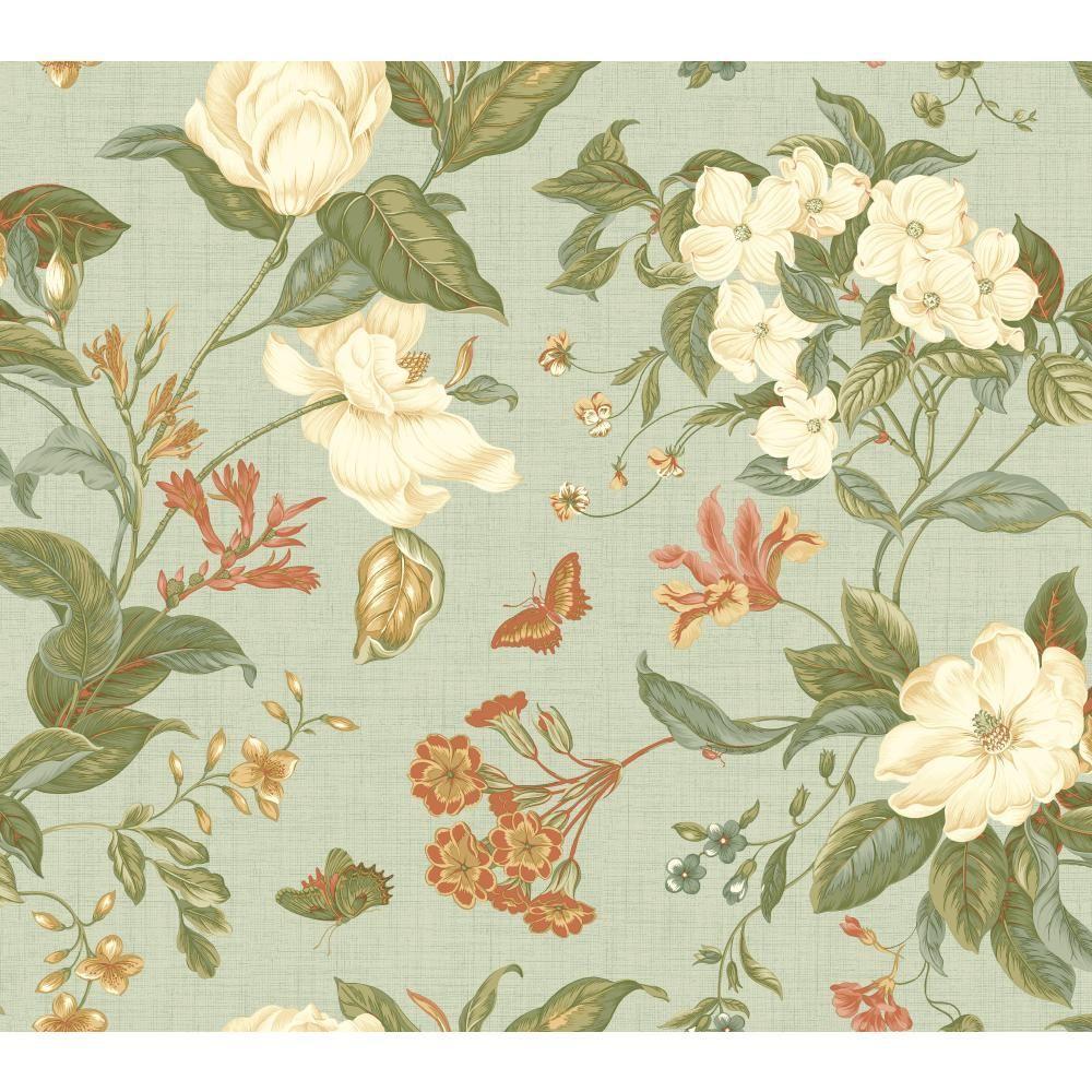 York Wallcoverings Williamsburg Garden Images Wallpaper